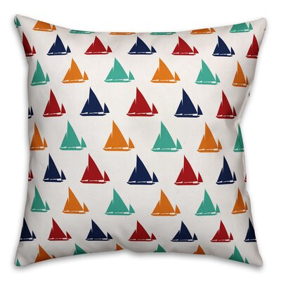 Kacie Lots of Boats Throw Pillow