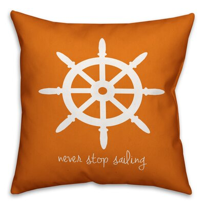 Kacie Never Stop Sailing Throw Pillow