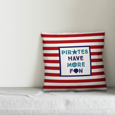 Joe Pirates Have More Fun Throw Pillow