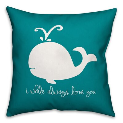 Kacie Whale Always Love Throw Pillow