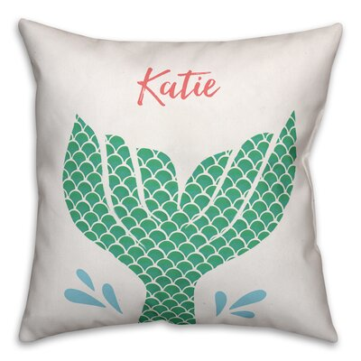 Jena Personalized Mermaid Tail Throw Pillow