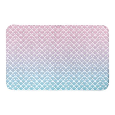 Jarret Mermaid Scales Bath Rug