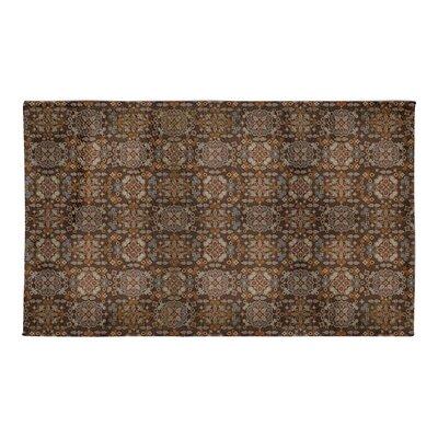 Hemenway Tile Brown Area Rug Rug Size: 3 x 5
