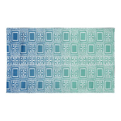 Townsend Blue Area Rug Rug Size: 3 x 5