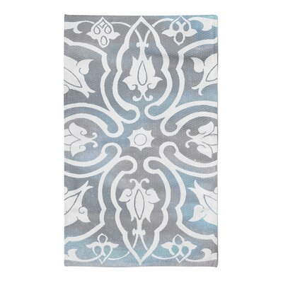 Julian Gray/Blue Area Rug Rug Size: 5 x 7