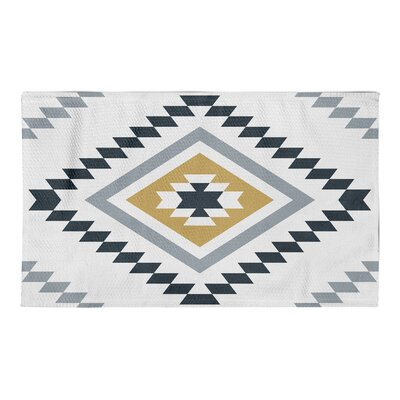 Marlborough Yellow/Black Area Rug Rug Size: 3 x 5