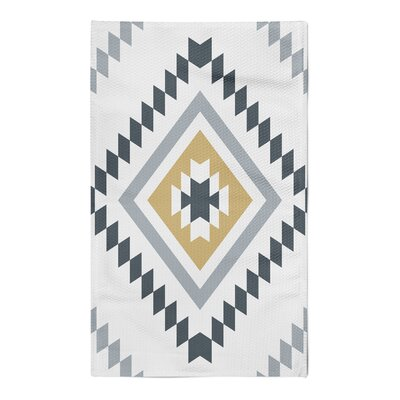 Marlborough Yellow/Black Area Rug Rug Size: 5 x 7