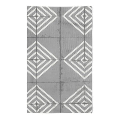 Crouse Gray Area Rug Rug Size: 5 x 7
