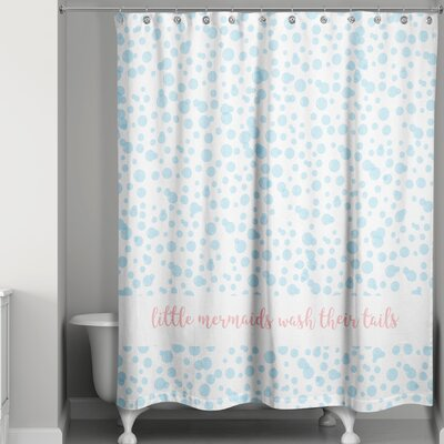 Jace Allia Bubbles Wash Your Tail Shower Curtain