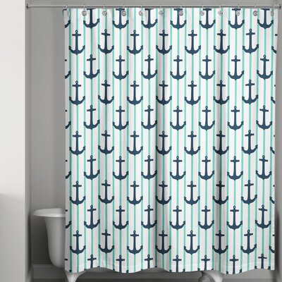 Isaias Anchor Stripes Shower Curtain
