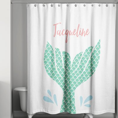 Jena Personalized Mermaid Tail Shower Curtain