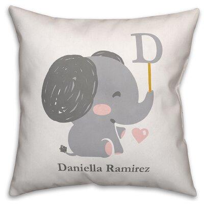 Dicken Baby Elephant Throw Pillow