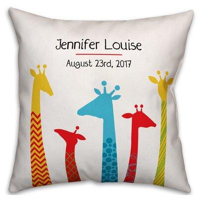 Diedrich Giraffe Family Throw Pillow