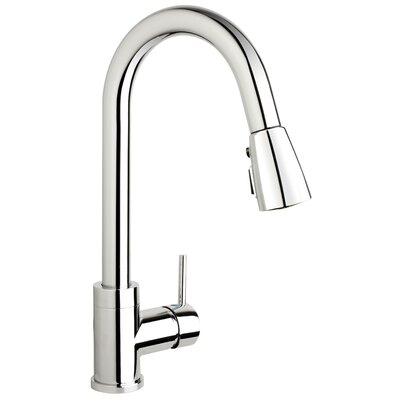 H2flo Single Handle Pull Down Standard Kitchen Faucet Finish: Polished Chrome