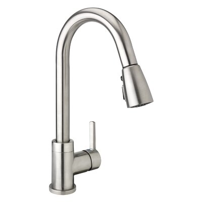 Essential Style Single Handle Pull Down Standard Kitchen Faucet Finish: Brushed Nickel