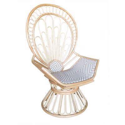 Justina Balloon Chair Upholstery: Natural