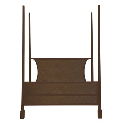 Caprice Four Poster Bed Color: Hazelnut, Size: Queen