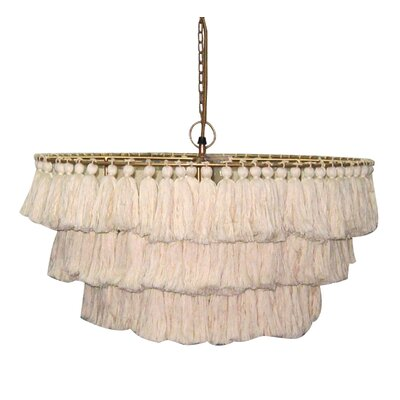 Justina Fela Tassel 1-Light Drum Pendant