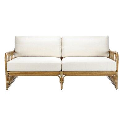 Sona Settee Upholstery: White, Finish: Nutmeg