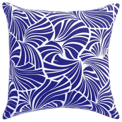 Florence Broadhurst Japanese Fans Throw Pillow Color: Cobalt