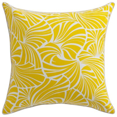 Florence Broadhurst Japanese Fans Throw Pillow Color: Yellow