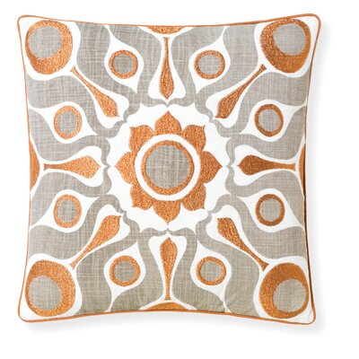 Florence Broadhurst Solar Throw Pillow Color: Dove