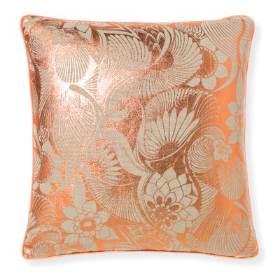 Florence Broadhurst Aubrey Throw Pillow Color: Rose Gold