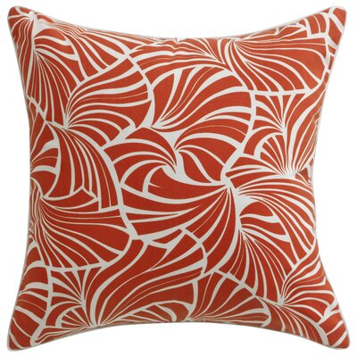 Florence Broadhurst Japanese Fans Throw Pillow Color: Red