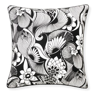Florence Broadhurst Aubrey Throw Pillow Color: Black