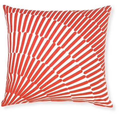 Rapee Array Throw Pillow Color: Red