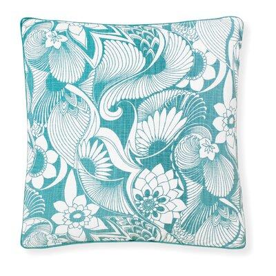 Florence Broadhurst Aubrey Throw Pillow Color: Marine