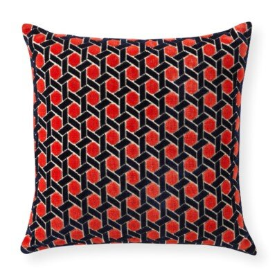 Rapee Grand Circle Throw Pillow Color: Red