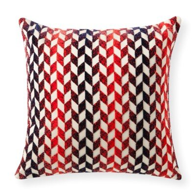 Rapee Grand Jewel Throw Pillow Color: Red