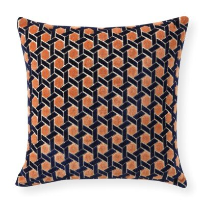 Rapee Grand Circle Throw Pillow Color: Copper