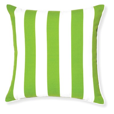 Rapee Stripe Outdoor Throw Pillow Color: Green