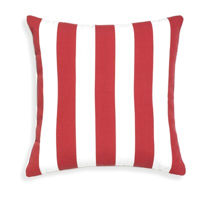Rapee Stripe Outdoor Throw Pillow Color: Red