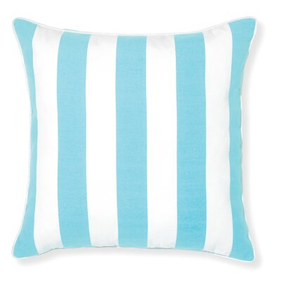Rapee Stripe Outdoor Throw Pillow Color: Aqua