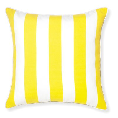 Rapee Stripe Outdoor Throw Pillow Color: Lemon