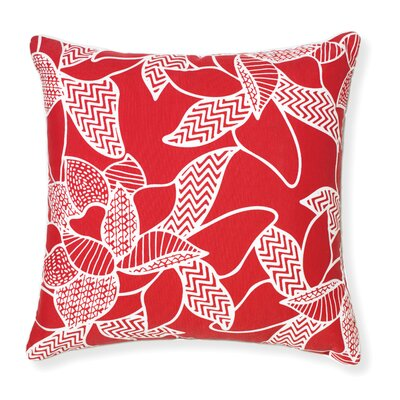 Rapee Outdoor Throw Pillow Color: Red