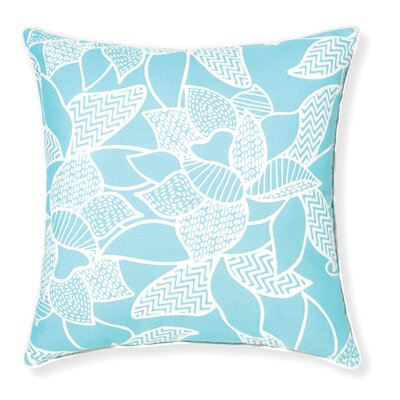 Rapee Outdoor Throw Pillow Color: Aqua