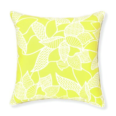 Rapee Outdoor Throw Pillow Color: Lemon