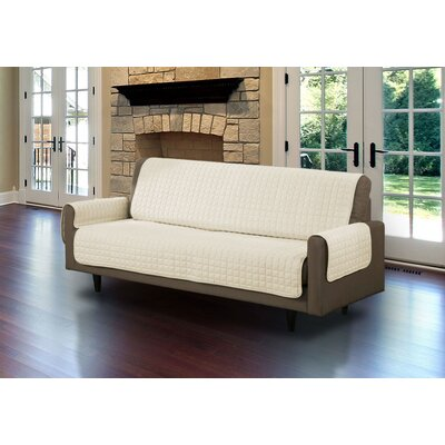 Microsuede Sofa Slipcover Upholstery: Beige