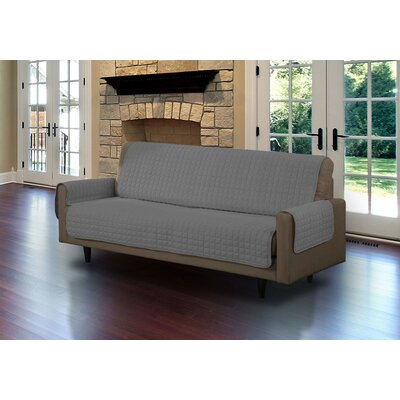 Microsuede Sofa Slipcover Upholstery: Gray