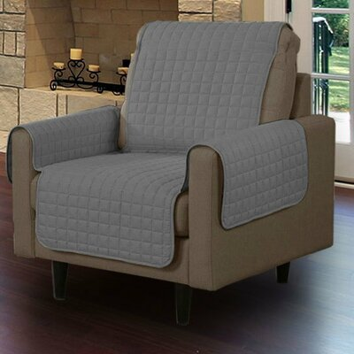Microsuede Armchair Slipcover Upholstery: Gray