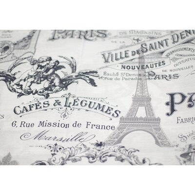 Paris and Eiffel Inspired Shower Curtain