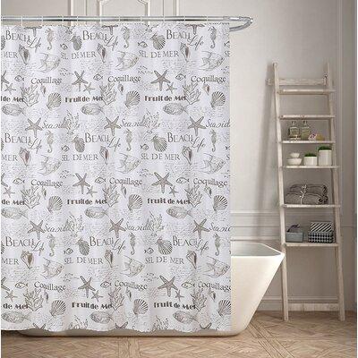 Beach Life Inspired Shower Curtain