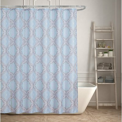 Contemporary Geometric Inspired Shower Curtain