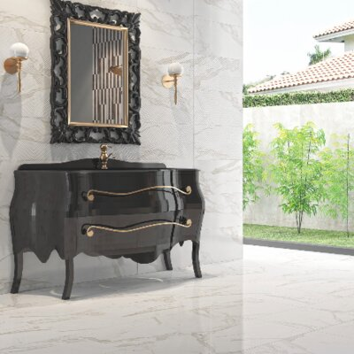 Mirage 18 x 18 Porcelain Floor/Wall Tile in Glossy Gray