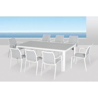 Houston Glass Top Extension Dining Table