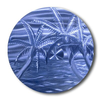 'Azure Beach' Graphic Art Print on Metal